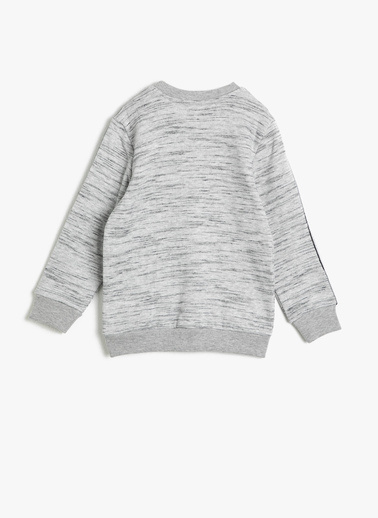 Koton Kids Yazı Baskılı Sweatshirt Gri